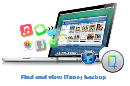 find and view iTunes abckup