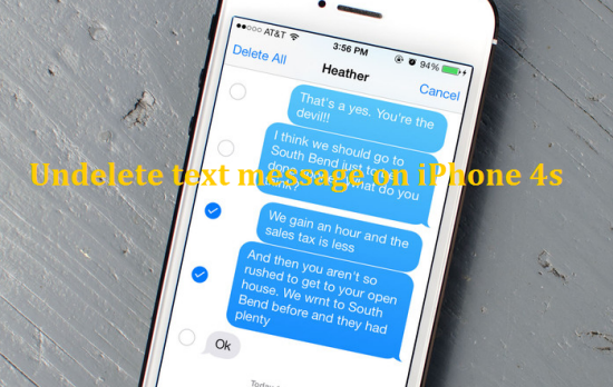 recover iphone4s deleted text