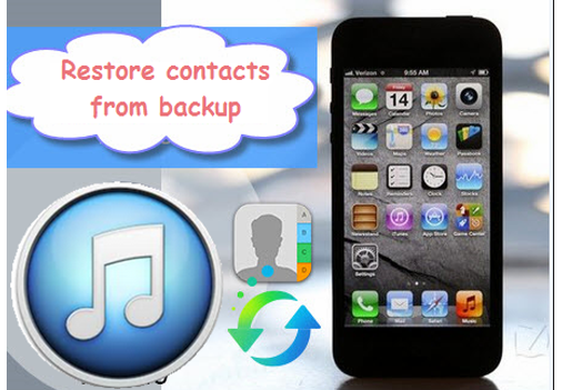 To restore contacts from backup to iphone 4s on windows 7 computer