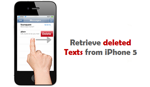 how to delete texts from iphone 5