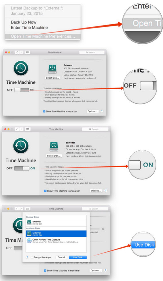 time machine network backups