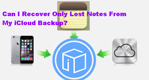 Can I Recover Only Lost Notes From My iCloud Backup?