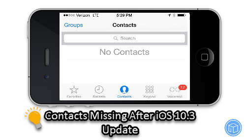 restore missing contacts after iphone update to ios 10.3