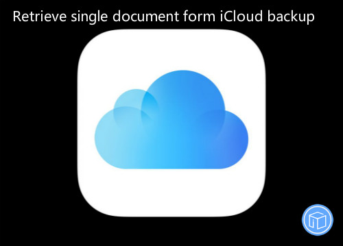 restore specific file from icloud backup