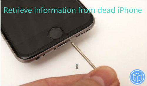 restore data from dead iPhone