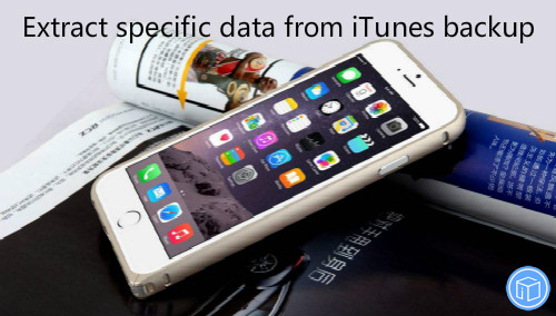 download target data from itunes backup