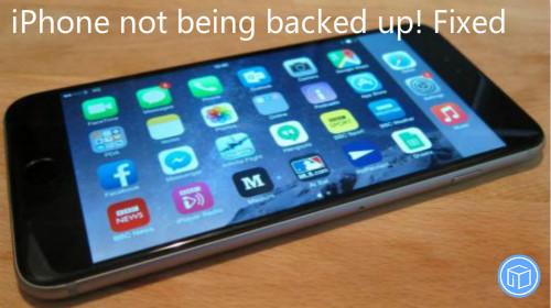 unable to backup iphone