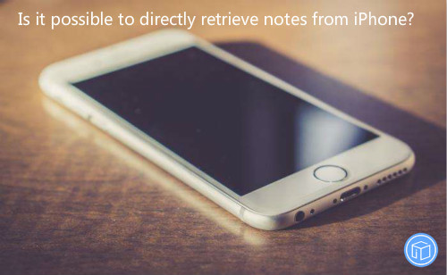restore notes from iphone