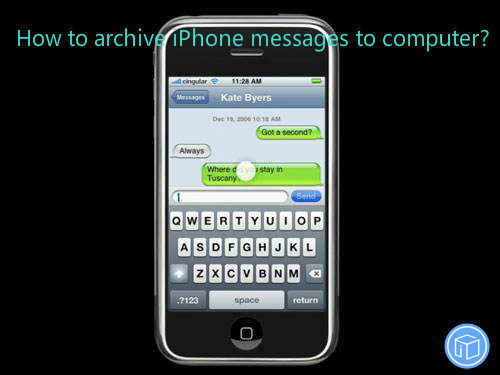 transfer iphone texts to computer