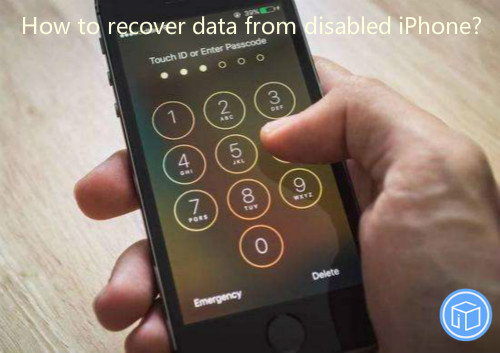 extract documents from disabled iphone