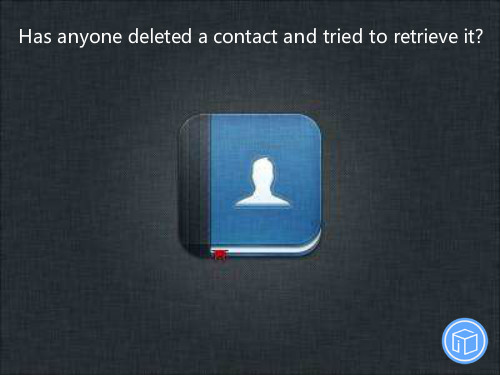 get vanished contacts back
