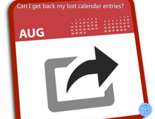 recover missing calendar entries