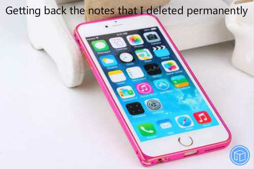 perform vanished notes recovery