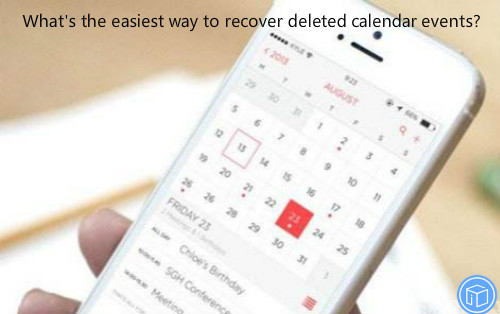 restore missing calendar events