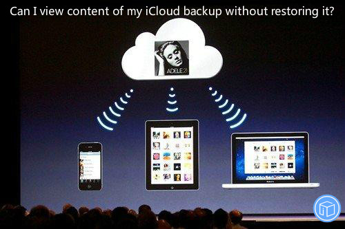 see what is stored in icloud without erasing device